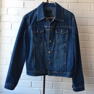 Izod Jeans Denim Blue Jean Jacket Sz Lg